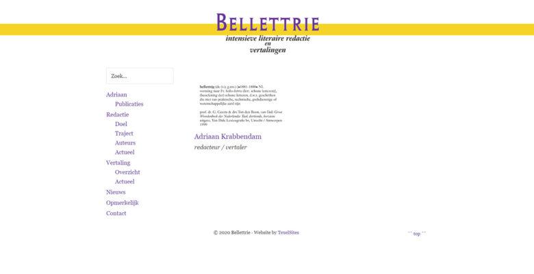 Bellettrie, Adriaan Krabbendam