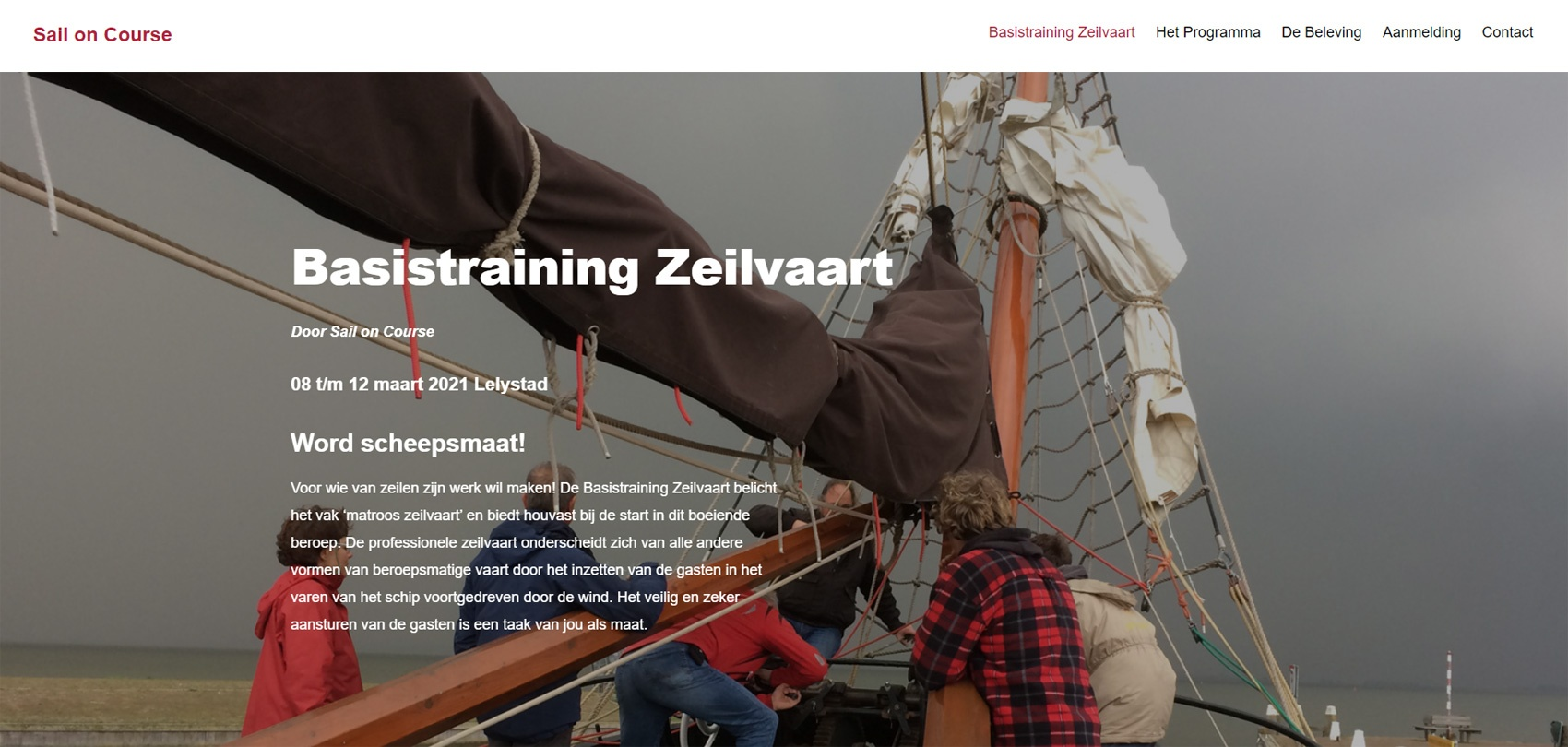 Sail on Course - Basistraining Zeilvaart